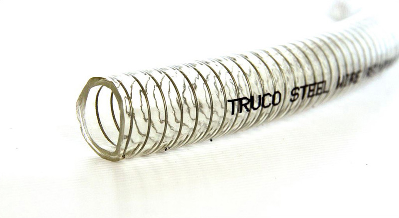 Truco-Steel Clear PVC Industrial Suction Hoses
