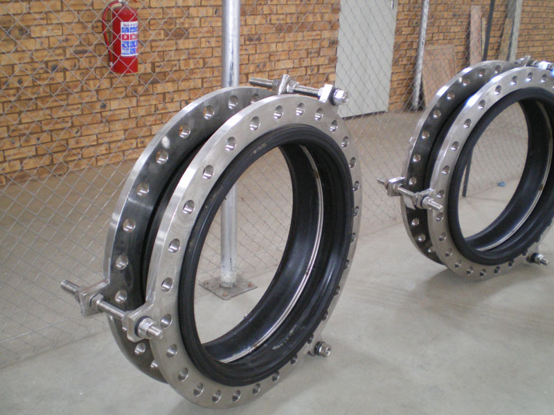 rubber bellows with tie-rods